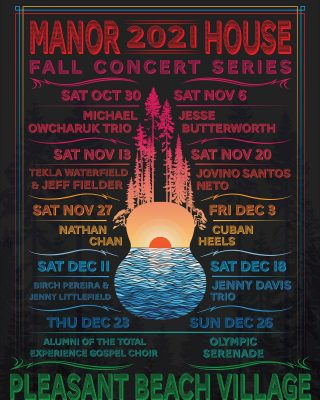 We are thrilled to announce tickets are ON SALE NOW for the inaugural Pleasant Beach Village Fall/Winter Concert Series in the Manor House.   We have an incredibly exciting lineup of world-class artists to help us inaugurate this iconic new venue that will take us all the way through the holiday season.  Buy your tickets now!   Click the link in our bio to secure your seats before they're gone!!! . . . . . . . . . #livemusic #islandconcert #winterconcertseries #pleasantbeachvillage #tickets #ticketsonsale #2021 #concert #livemusicvenue #bainbridgelivemusic