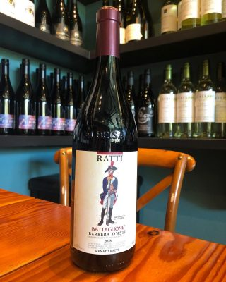 The perfect day for a bold red!  BARBERA D'ASTI BATTAGLIONE 2018.  This barbera wine is a bold yet smooth wine with a dry acidic finish.  Tasting notes include red fruit and black fruit with earthy notes as well.  Earth and Vine wine bar open this evening from 3-8pm.  . . . . . . . . . .  #barbera #redwine #earthandvine #winebar #wineofinstagram #bainbridgeisland #bainbridgewinebar